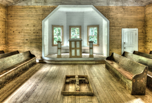 inside cades cove church