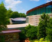 a view of crystal bridges art museum