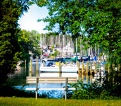 the boating village