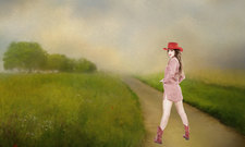 the cowgirl series - walk a country path